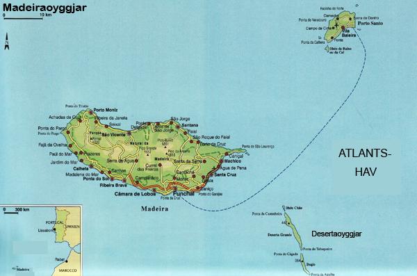 Landafrøði og jarðfrøði um Madeira
